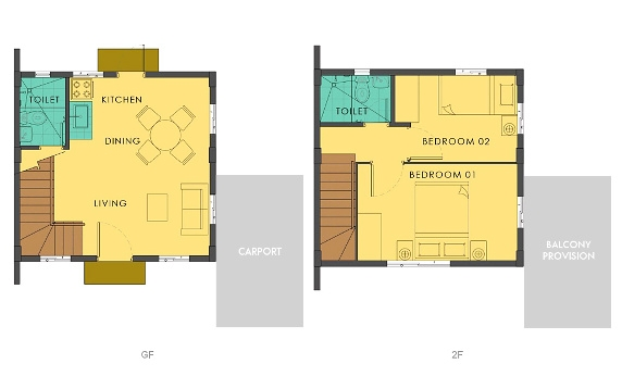 Bella Floor Plan House and Lot in Alabang