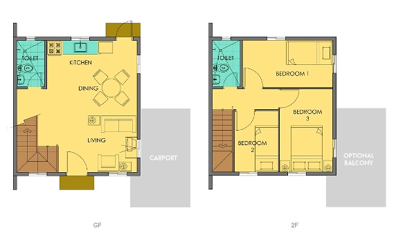 Cara Floor Plan House and Lot in Alabang