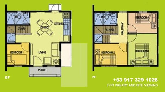 Carina Floor Plan House and Lot in Alabang