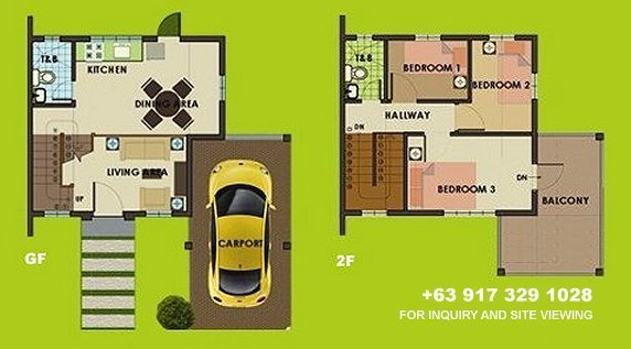 Carmina Uphill Floor Plan House and Lot in Alabang