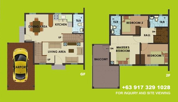 Dorina Uphill Floor Plan House and Lot in Alabang