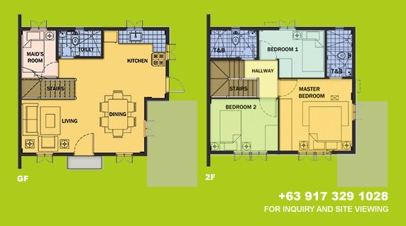 Drina Floor Plan House and Lot in Alabang
