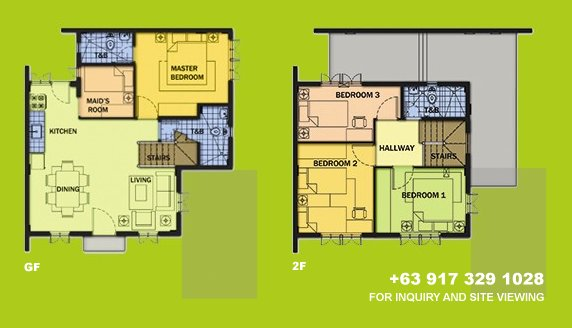 Elaisa Floor Plan House and Lot in Alabang