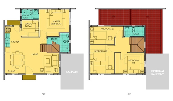 Ella Floor Plan House and Lot in Alabang