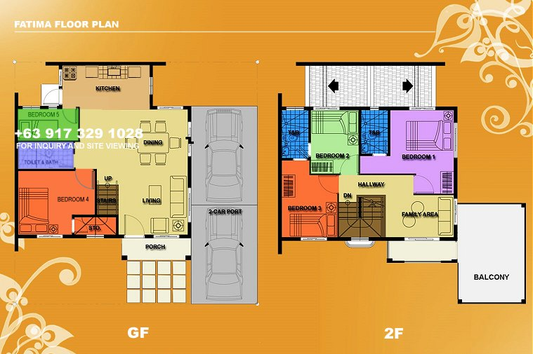Fatima Floor Plan House and Lot in Alabang