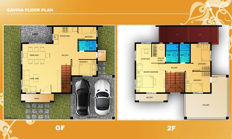 Gavina Floor Plan House and Lot in Alabang