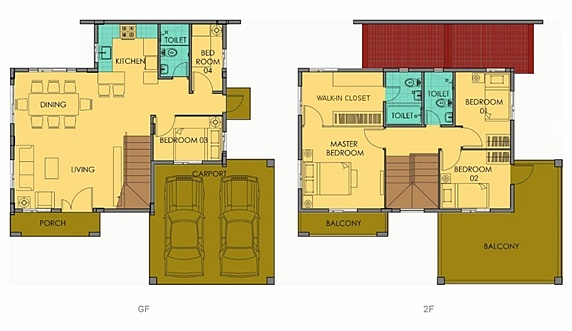 Greta Floor Plan House and Lot in Alabang