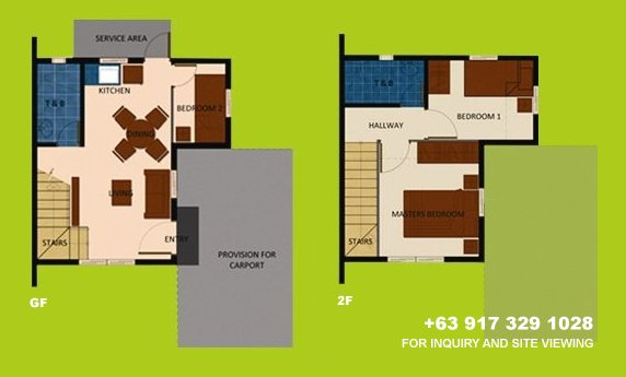 Mara Floor Plan House and Lot in Alabang